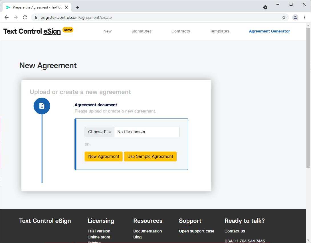 Agreement Designer